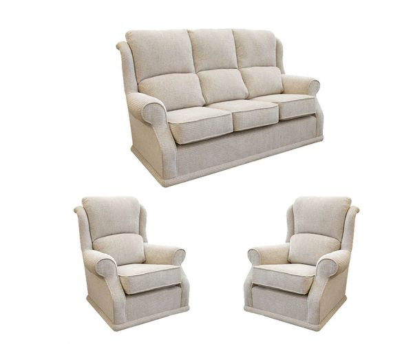 Buoyant Upholstery Balmoral Fabric 3+1+1 Sofa Set
