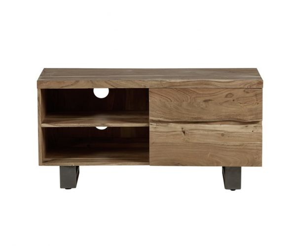 Indian Hub Baltic Live Edge 2 Drawer Small TV Unit