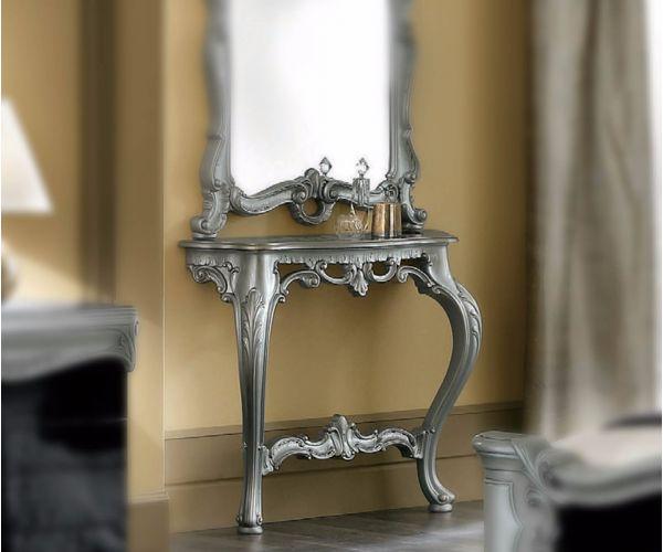 Camel Group Barocco Silver Finish Console Dresser