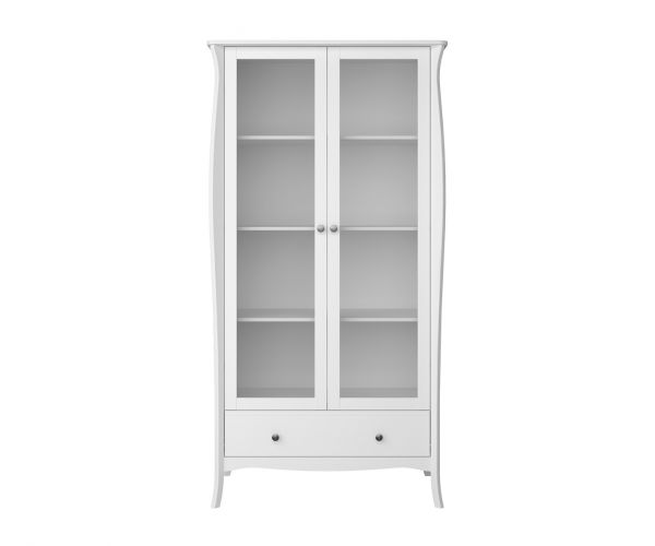 Steens Baroque White 2 Door Glazed Display Cabinet