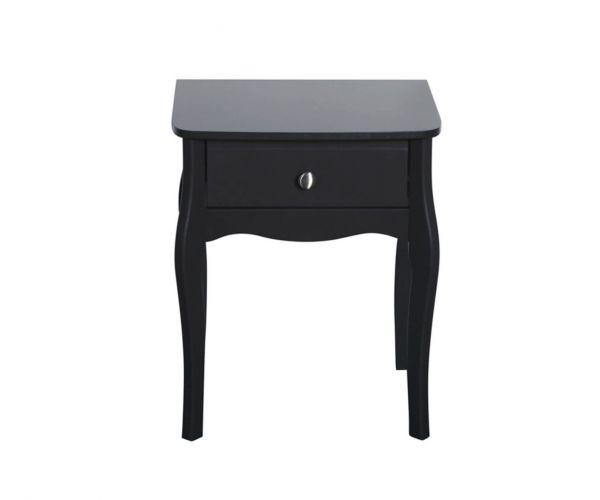 Steens Baroque Black 1 Drawer Nightstand