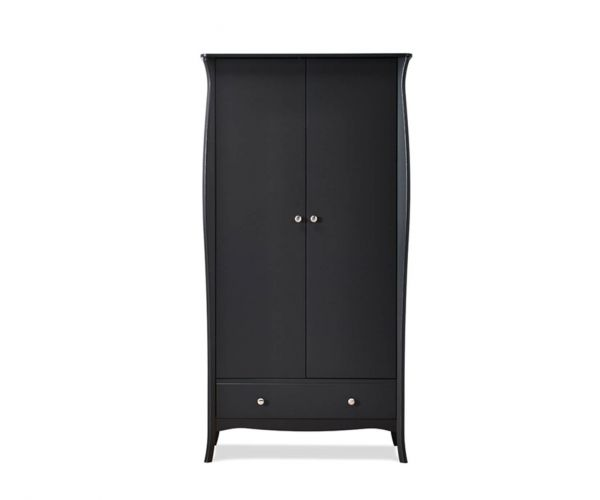 Steens Baroque Black 2 Door 1 Drawer Wardrobe