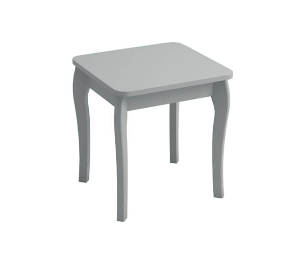 Steens Baroque Grey Dressing Table Stool