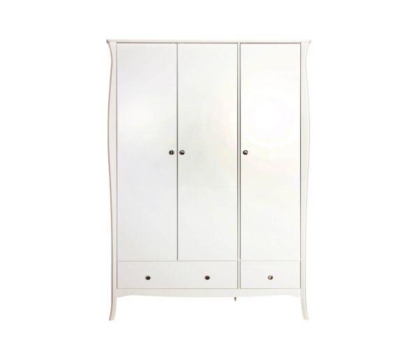 Steens Baroque White 3 Door 3 Drawer Wardrobe