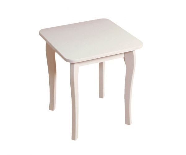 Steens Baroque White Dressing Table Stool