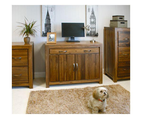Baumhaus Mayan Walnut Hidden Home Office Desk