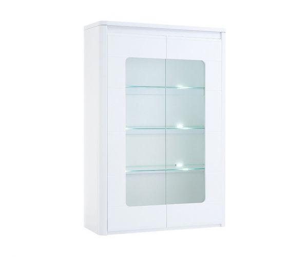 Derrys Furniture Bellini White High Gloss 2 Door Cabinet