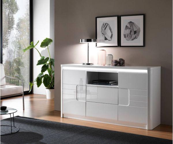 Derrys Furniture Bellini White High Gloss Sideboard