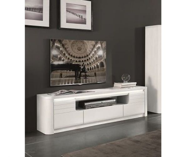 Derrys Furniture Bellini White High Gloss TV Unit