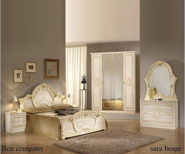 Ben Company Sara Beige Finish Italian Bedroom Set