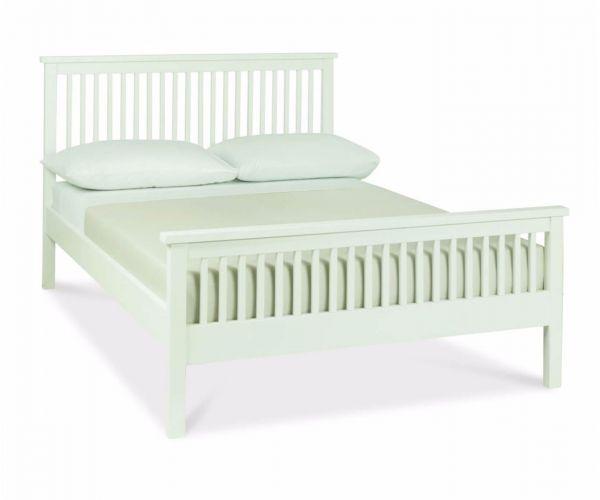 Bentley Designs Atlanta White High Footend Bed Frame