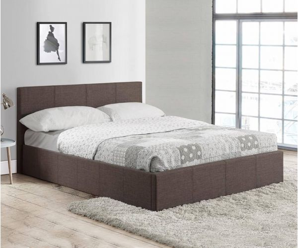 Birlea Furniture Berlin Grey Fabric Ottoman Bed Frame
