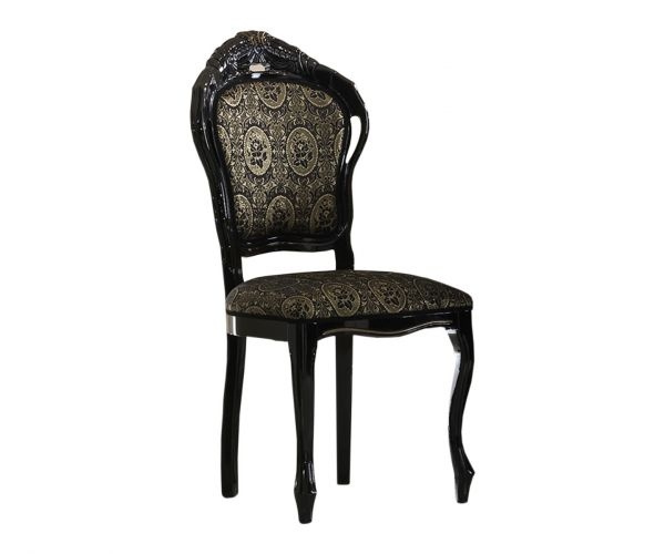 Ben Company Betty Black and Gold Finish Italian Dining Chair