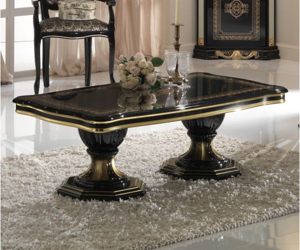 Ben Company Betty Black and Gold Finish Italian Coffee Table