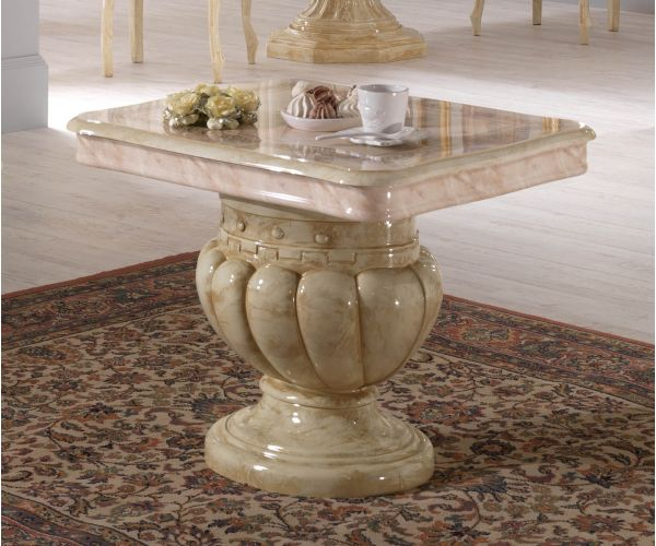 Ben Company Betty Beige Finish Italian Lamp Table