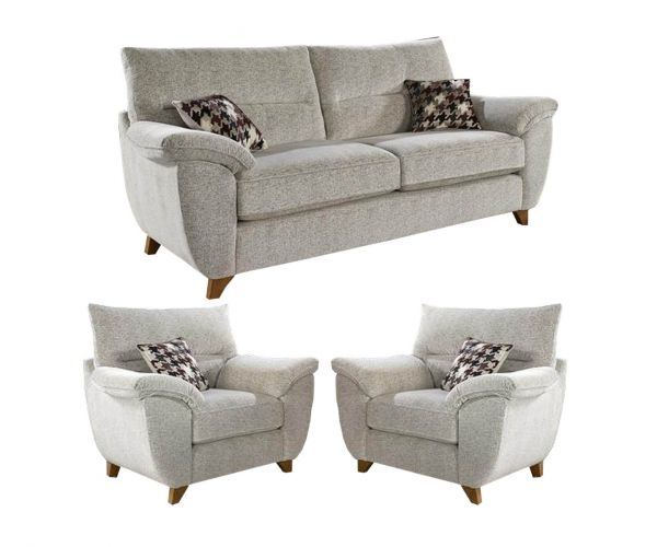 Lebus Billie High Back Fabric 3+1+1 Sofa Set