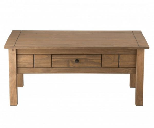 Birlea Furniture Santiago Pine 1 Drawer Coffee Table