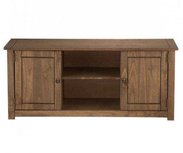 Birlea Furniture Santiago Pine 2 Door 1 Shelf Flat Screen TV Unit