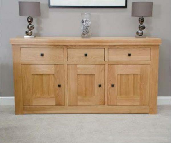 Homestyle GB Bordeaux Oak 3 Door 3 Drawer Sideboard