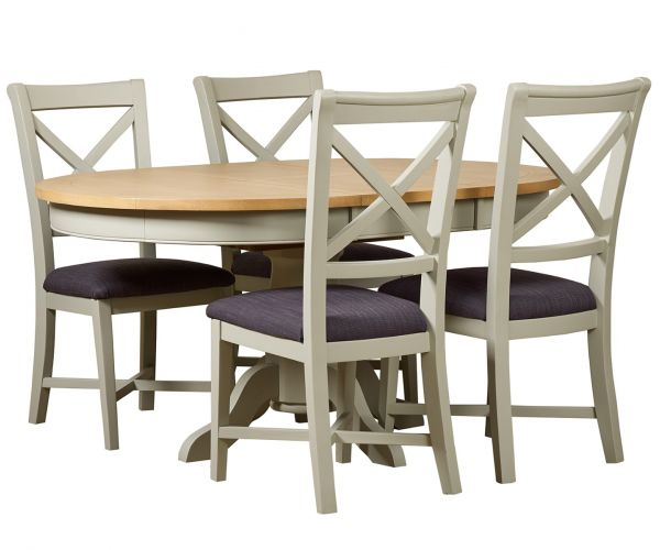 Mark Webster Bordeaux Round Extending Dining Table with 4 Chairs