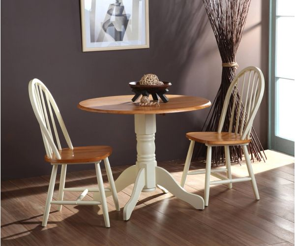 Vida Living Brecon Round Buttermilk Extending Dining Table Only