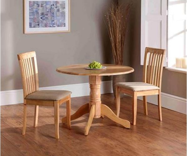 Vida Living Brecon Round Natural Finish Extending Dining Table Only