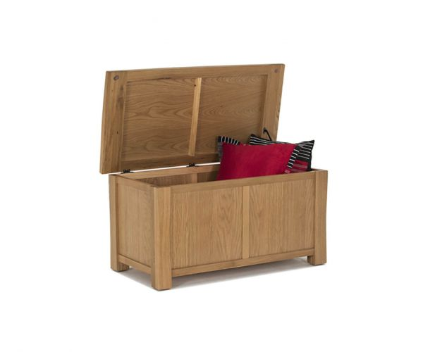 Vida Living Breeze Oak Blanket Box