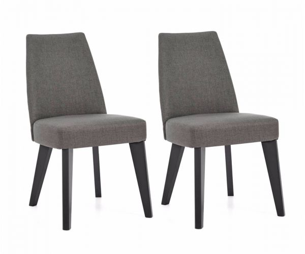 Bentley Designs Brunel Cold Steel Fabric Dining Chair in Pair
