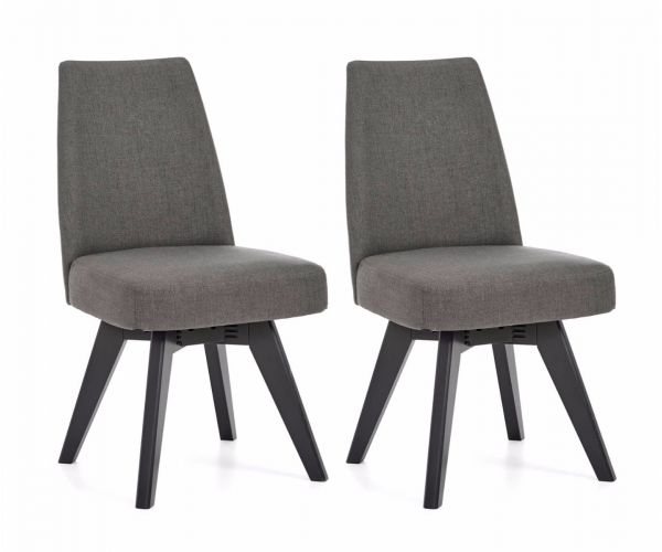 Bentley Designs Brunel Cold Steel Fabric Swivel Chair in Pair
