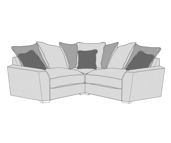 Buoyant Upholstery Wilmslow Pillow Back Small Corner Sofa (L1, CO, R1)