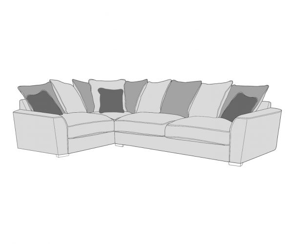 Buoyant Upholstery Wilmslow Pillow Back Corner Sofa (L1, CO, R2)