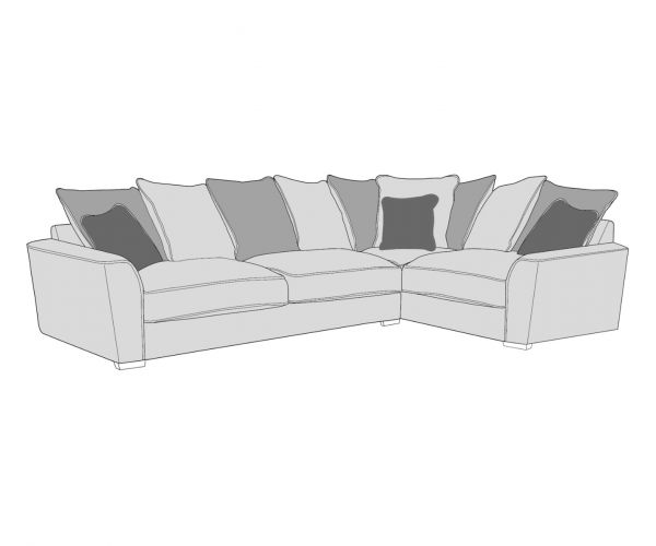 Buoyant Upholstery Wilmslow Pillow Back Corner Sofa (R1, CO, L2)