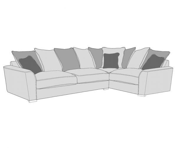 Buoyant Upholstery Wilmslow Pillow Back Corner Sofa (L2, R2C)