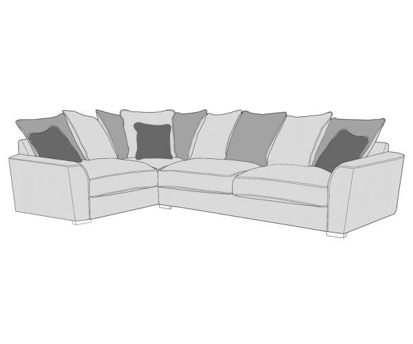 Buoyant Upholstery Wilmslow Pillow Back Corner Sofa (R2, L2C)