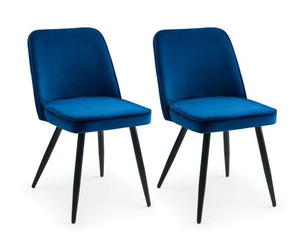 Julian Bowen Burgess Blue Dining Chair in Pair
