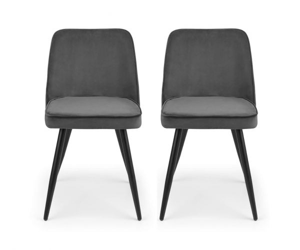 Julian Bowen Burgess Grey Dining Chair in Pair