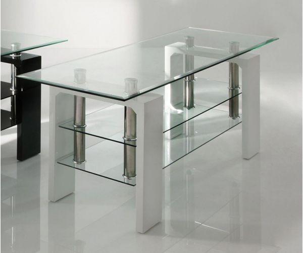 Vida Living Calico Glass TV Stand White