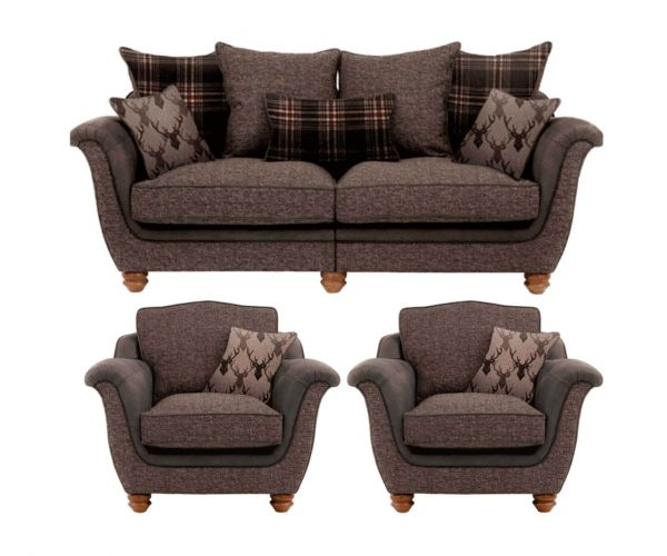 Lebus Camden Fabric 3+1+1 Sofa Set