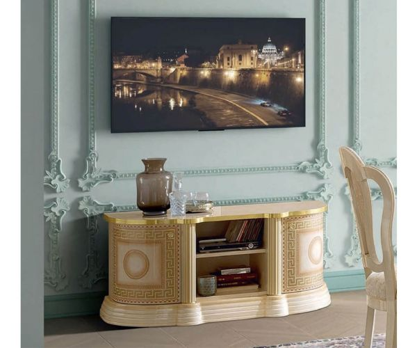 Camel Group Aida Ivory and Gold Mini TV Cabinet