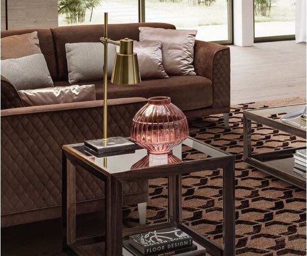 Camel Group Elite Walnut Square Lamp Table