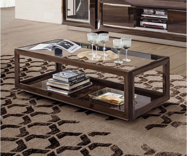 Camel Group Elite Walnut Rectangular Coffee Table