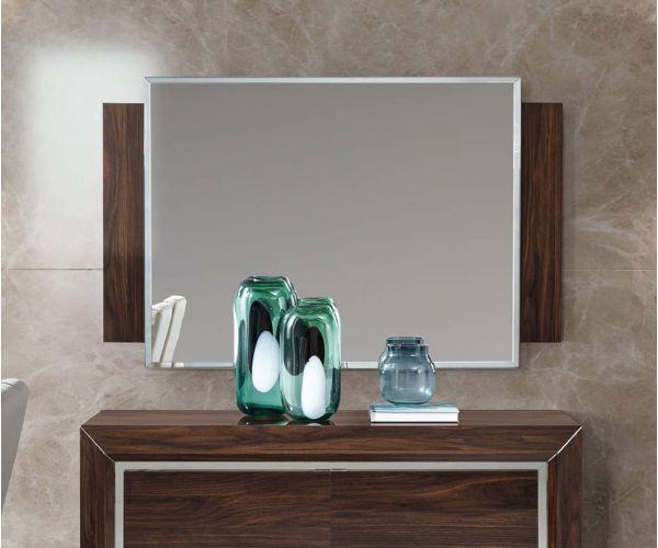 Camel Group Elite Walnut Rectangular Wall Mirror