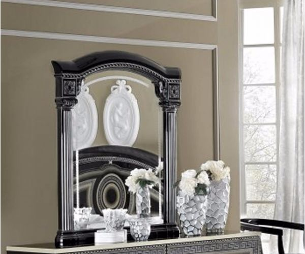 Camel Group Aida Black and Silver Finish Mirror