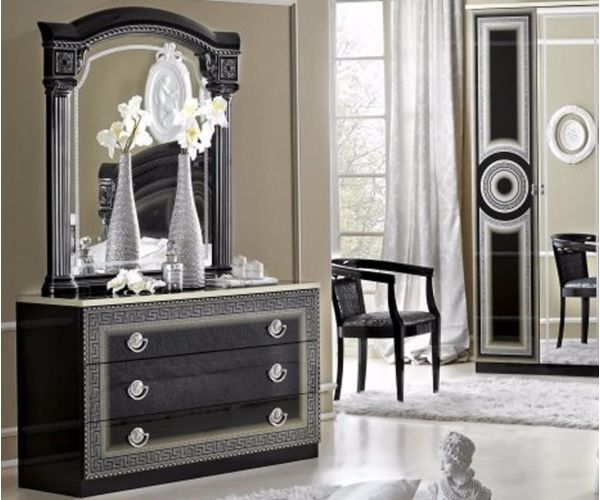 Camel Group Aida Black and Silver Finish 3 Drawer Single Dresser