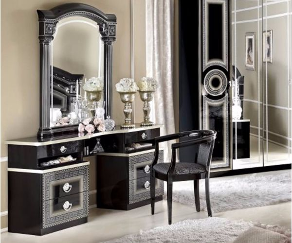 Camel Group Aida Black and Silver Finish Vanity Dresser