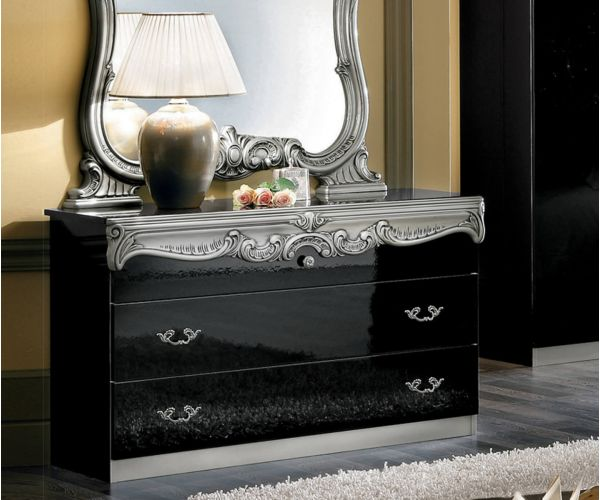Camel Group Barocco Black and Silver Finish Single Dresser