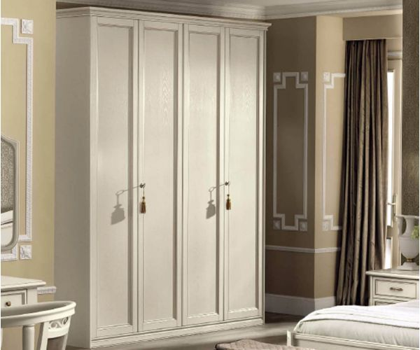 Camel Group Nostalgia Antique White 4 Door Wardrobe
