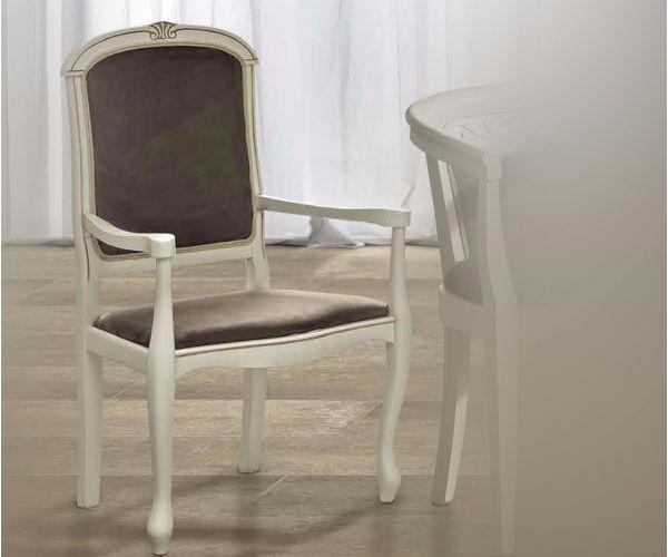 Camel Group Nostalgia Antique White Dining Armchair