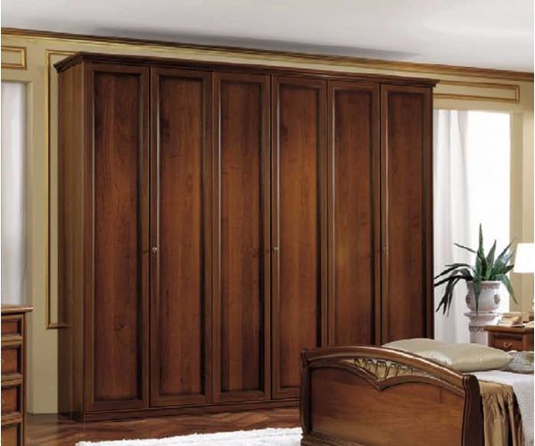 Camel Group Nostalgia Walnut Finish 6 Door Wardrobe