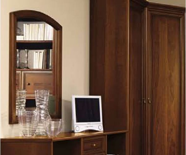 Camel Group Nostalgia Walnut Finish Curved Mirror